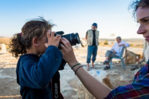 The younger residents of Susiya enjoy learning how to use a camera, a skill that will be useful for them in the future as they can document their situation for themselves.